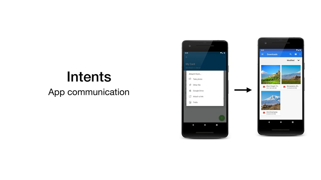 Intents App communication