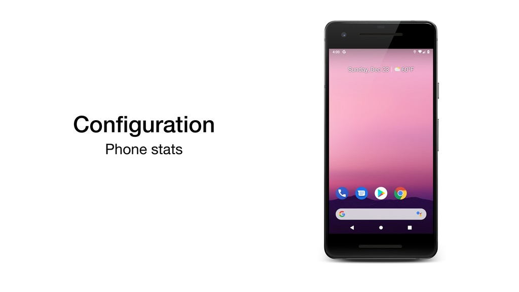 Configuration Phone stats