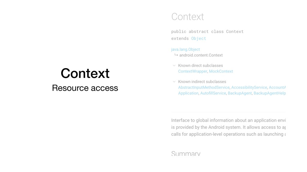 Context Resource access