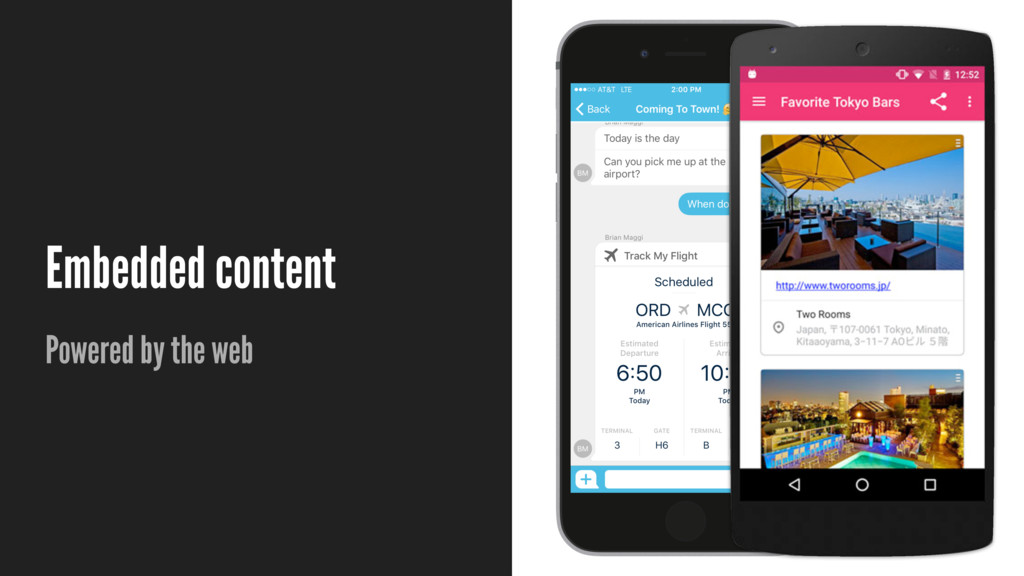 Embedded content Powered by the web