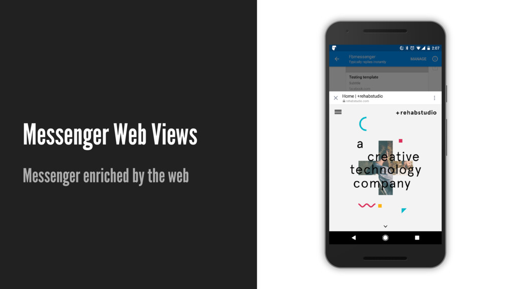 Messenger Web Views Messenger enriched by the w...