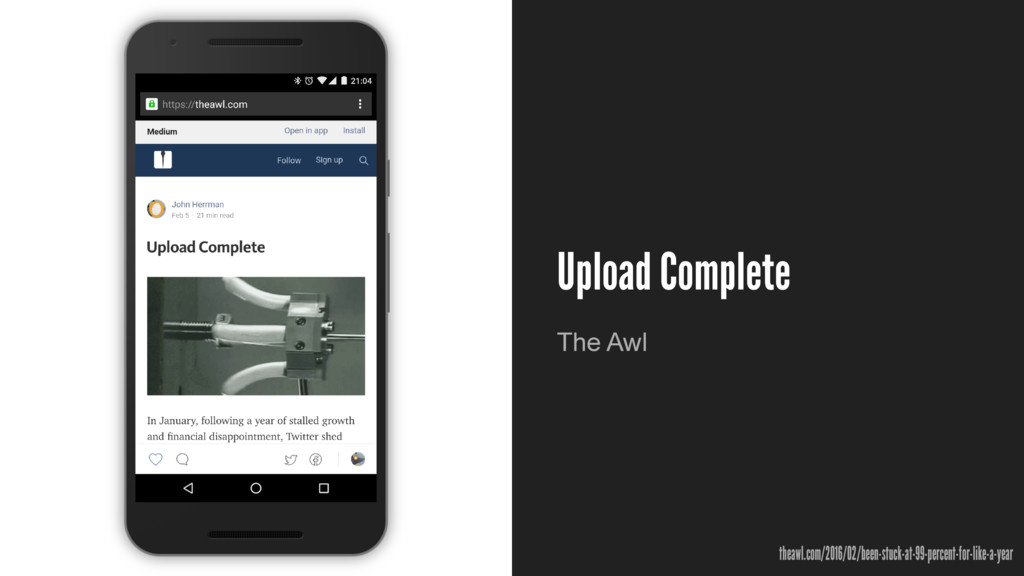 Upload Complete The Awl theawl.com/2016/02/been...