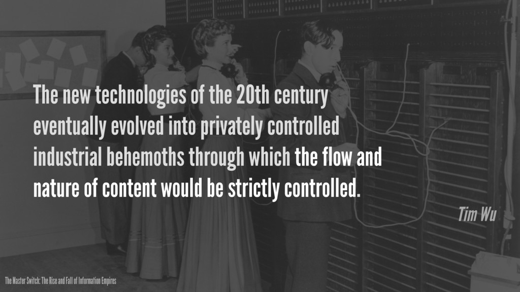 The new technologies of the 20th century eventu...