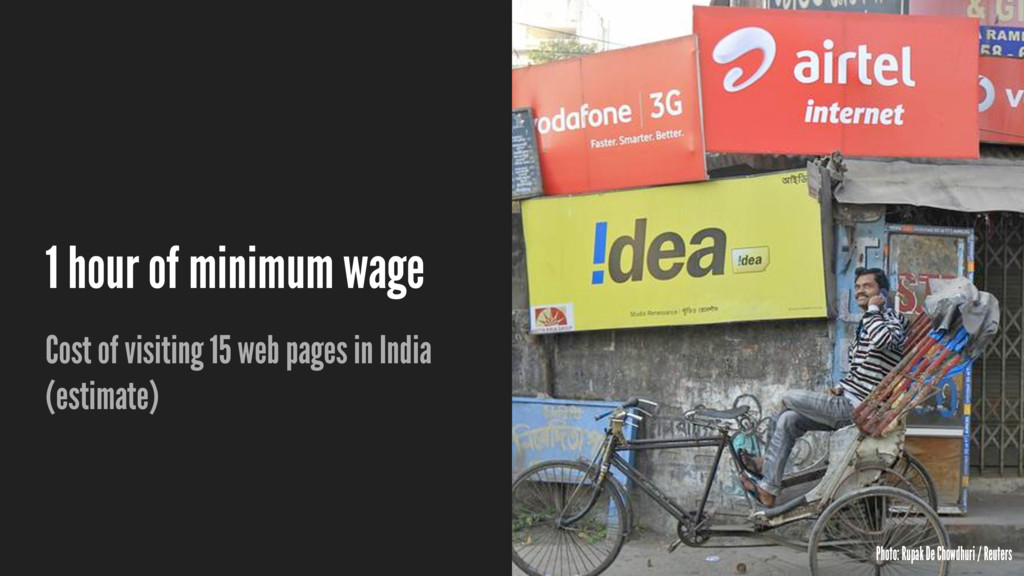 1 hour of minimum wage Cost of visiting 15 web ...