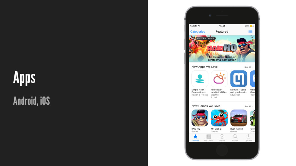 Apps Android, iOS