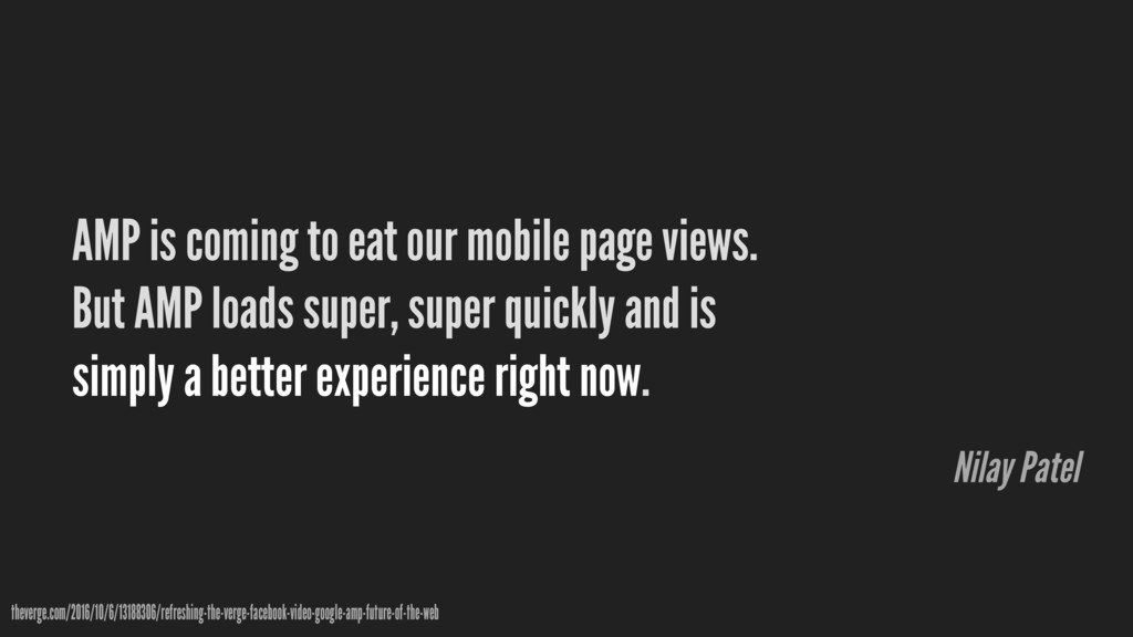 AMP is coming to eat our mobile page views. But...
