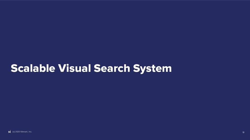 (c) 2020 Mercari, Inc. Scalable Visual Search S...