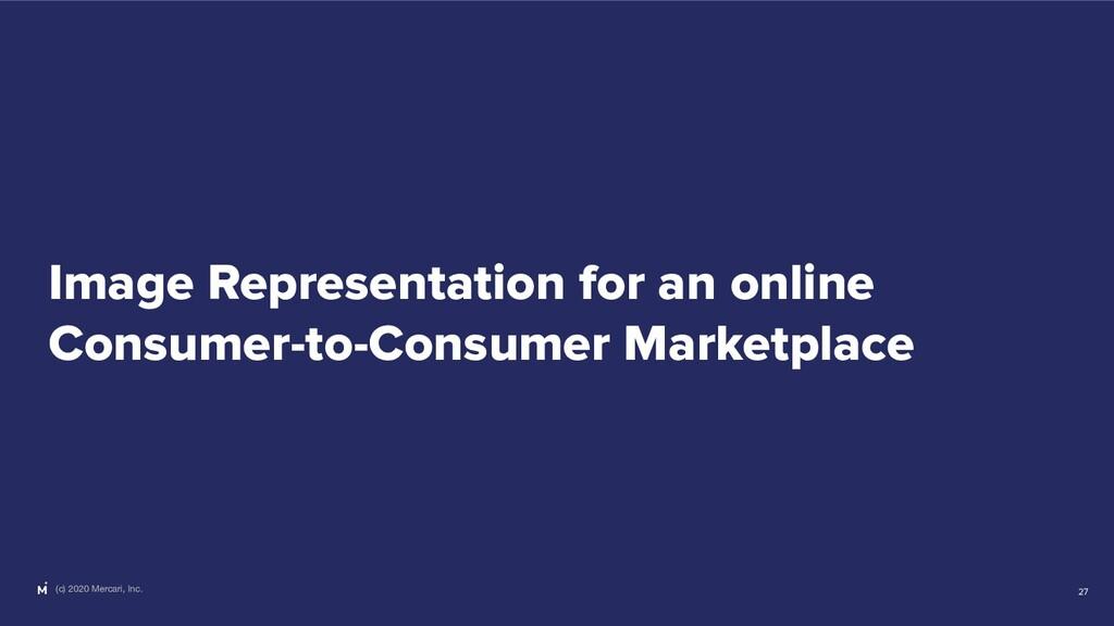 (c) 2020 Mercari, Inc. Image Representation for...