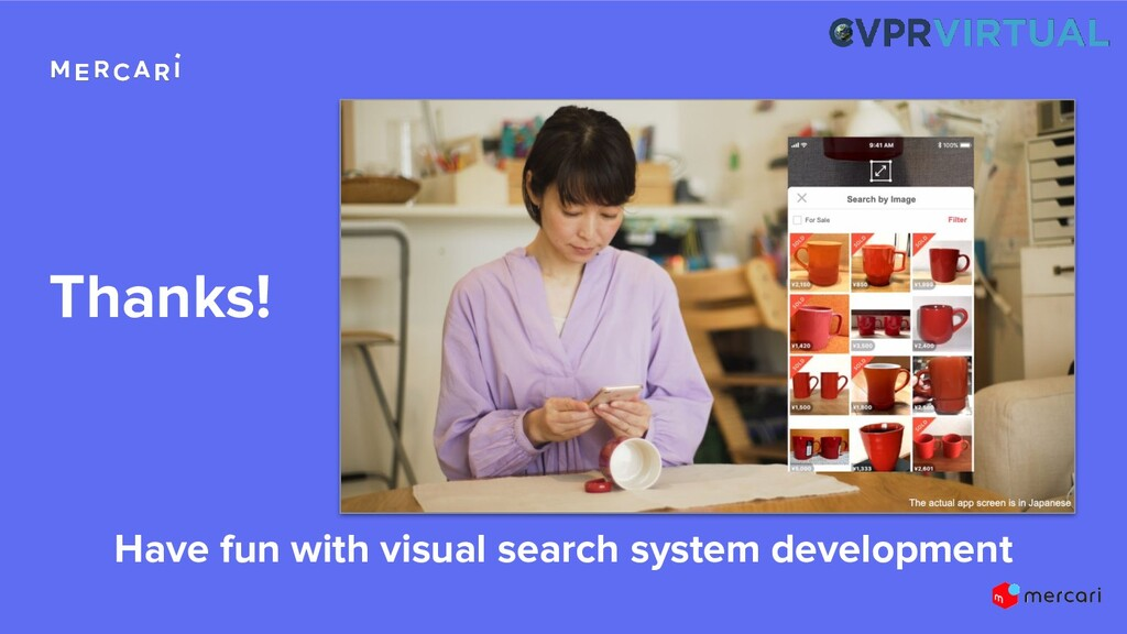 Thanks! Have fun with visual search system deve...
