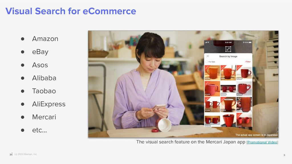 (c) 2020 Mercari, Inc. Visual Search for eComme...