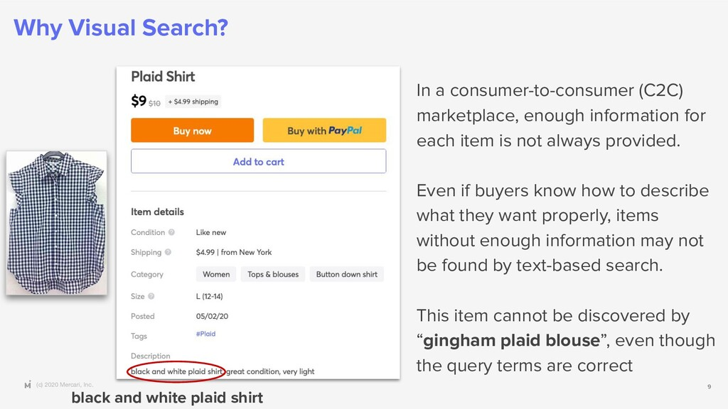(c) 2020 Mercari, Inc. Why Visual Search? 9 In ...