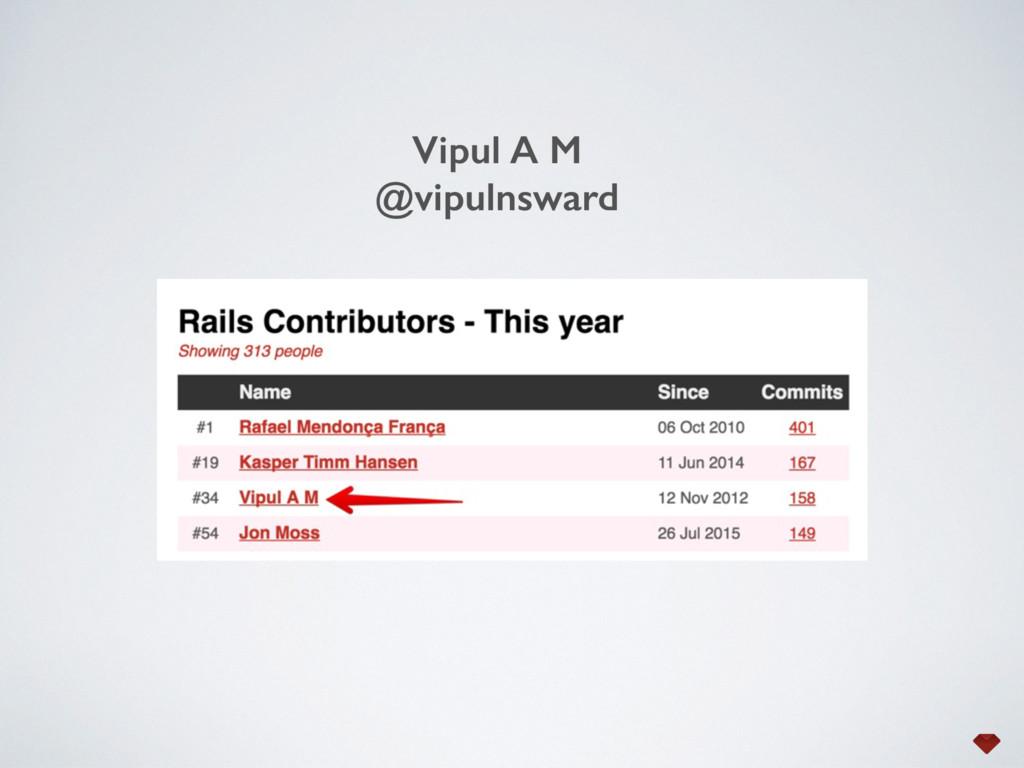Vipul A M @vipulnsward