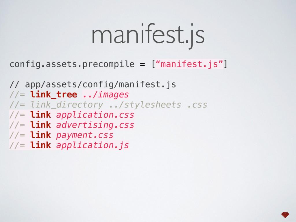 """manifest.js config.assets.precompile = [""""manife..."""