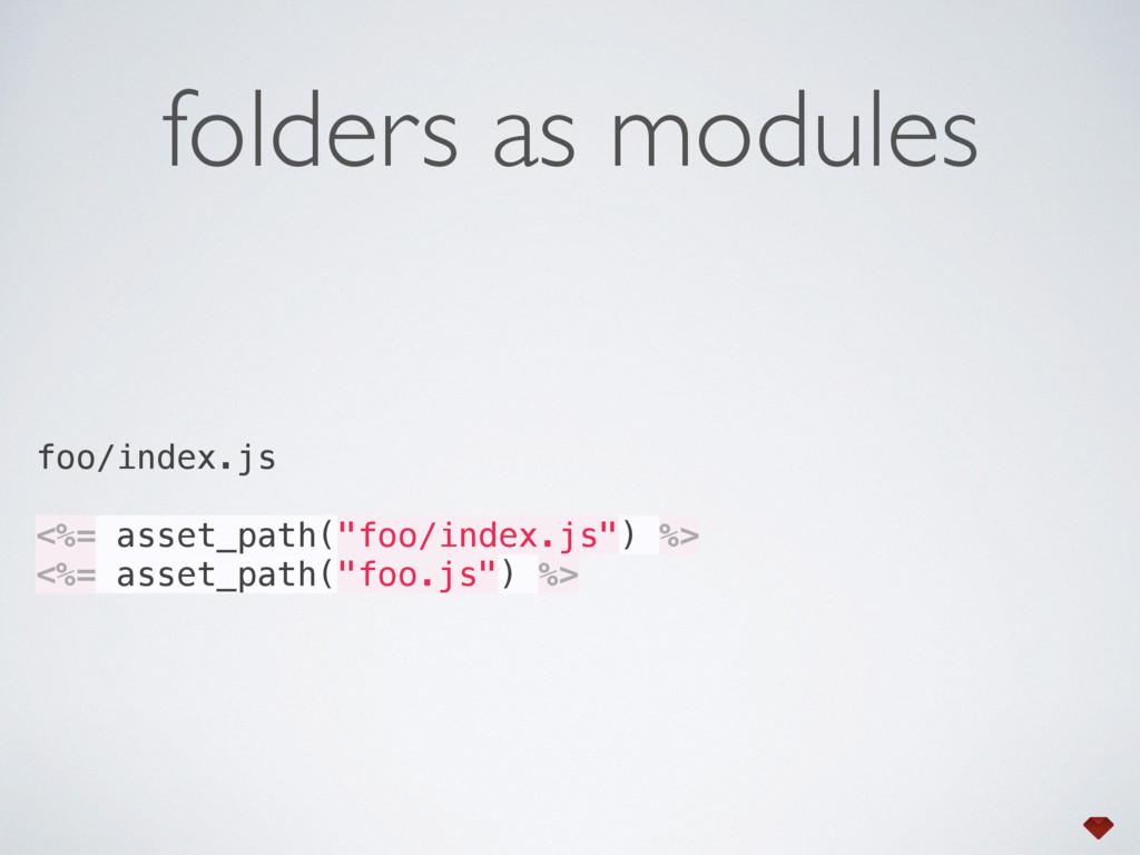 folders as modules foo/index.js <%= asset_path(...