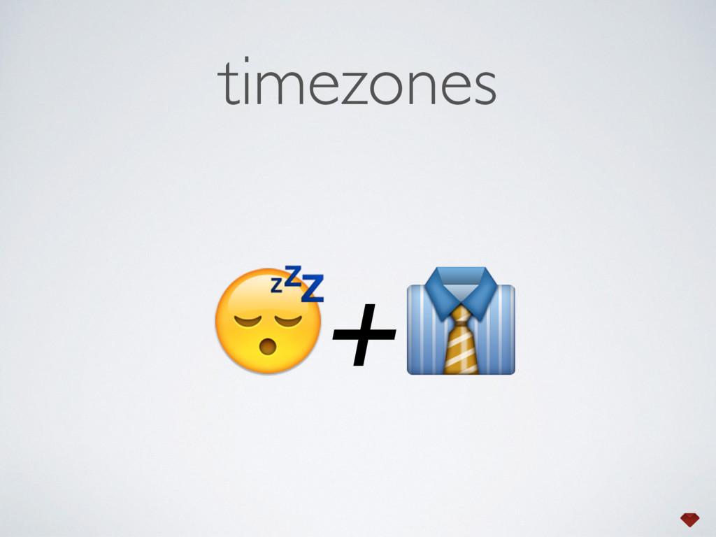 timezones +