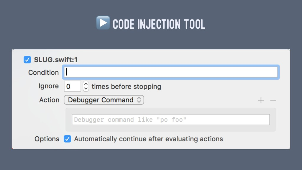 ▶ CODE INJECTION TOOL