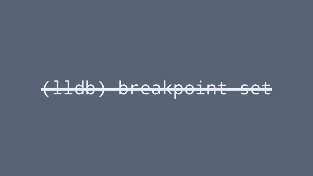 (lldb) breakpoint set