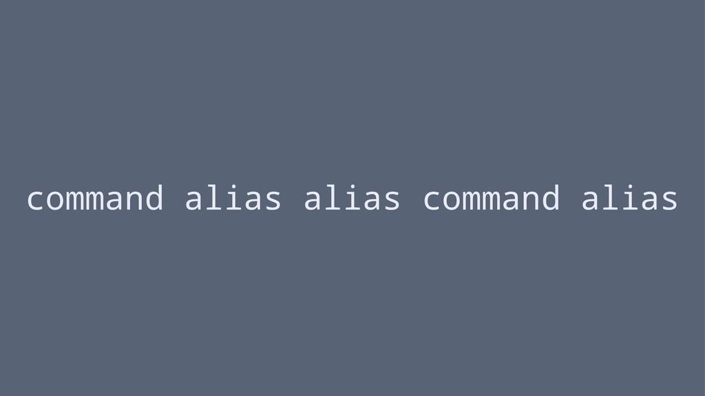 command alias alias command alias