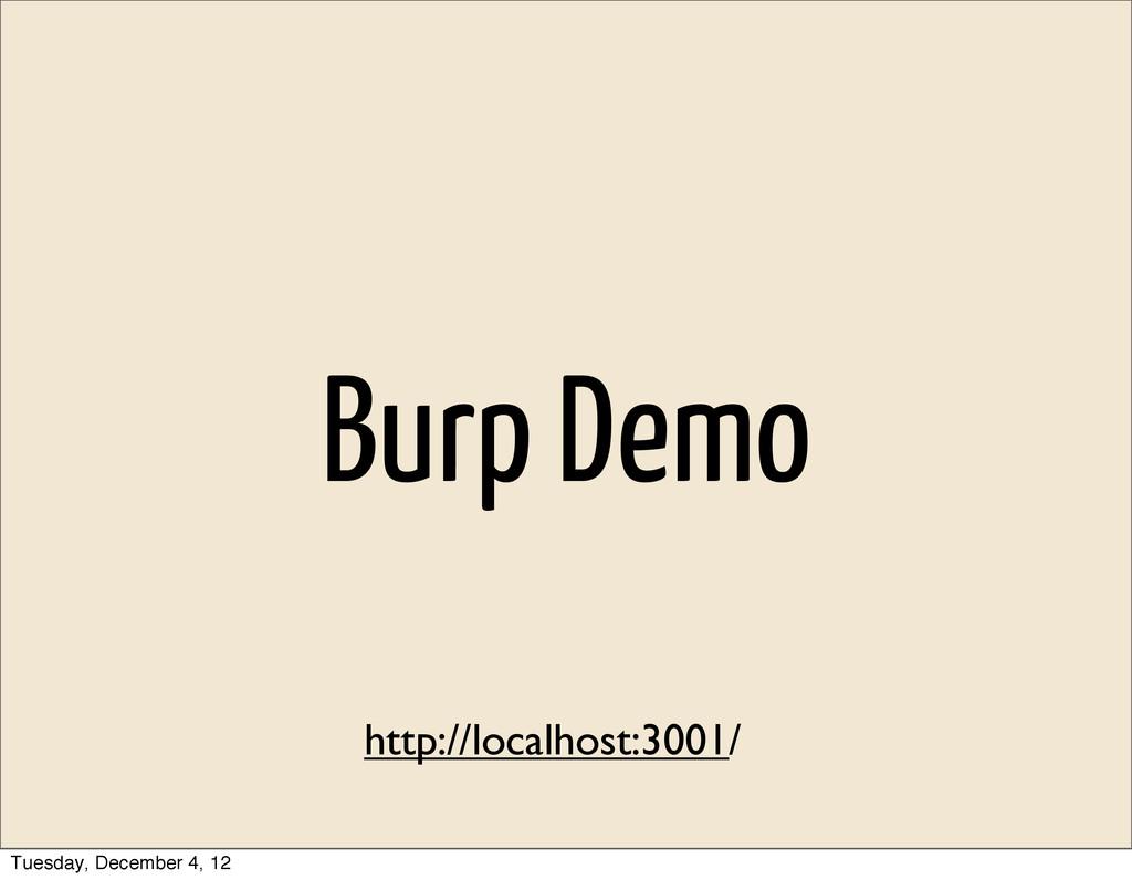 Burp Demo http://localhost:3001/ Tuesday, Decem...