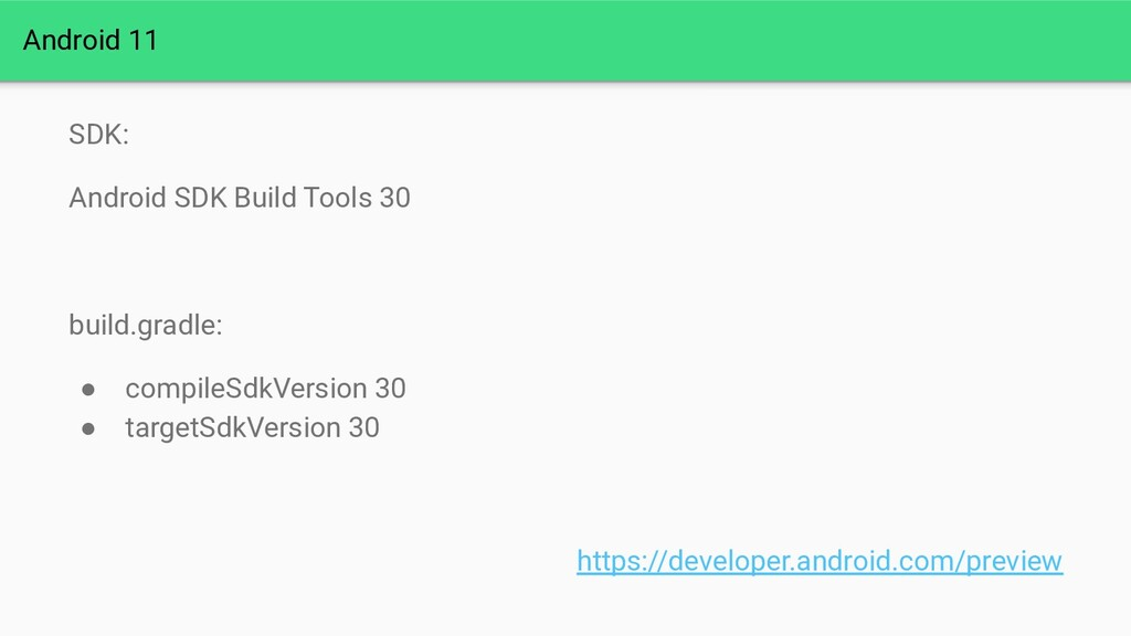 Android 11 SDK: Android SDK Build Tools 30 buil...
