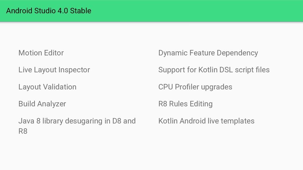 Android Studio 4.0 Stable Motion Editor Live La...
