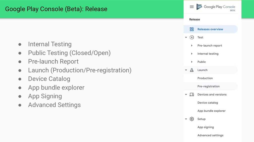 Google Play Console (Beta): Release ● Internal ...
