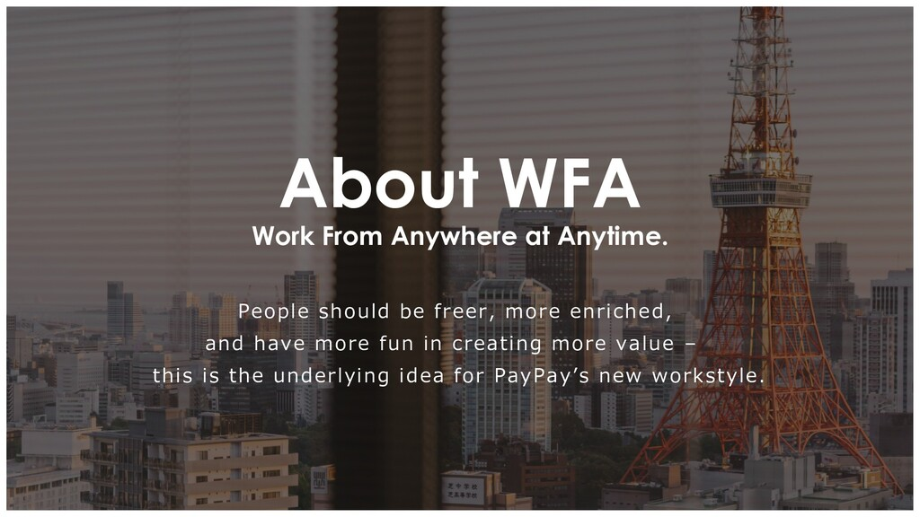 Work From Anywhere at Anytime. About WFA People...