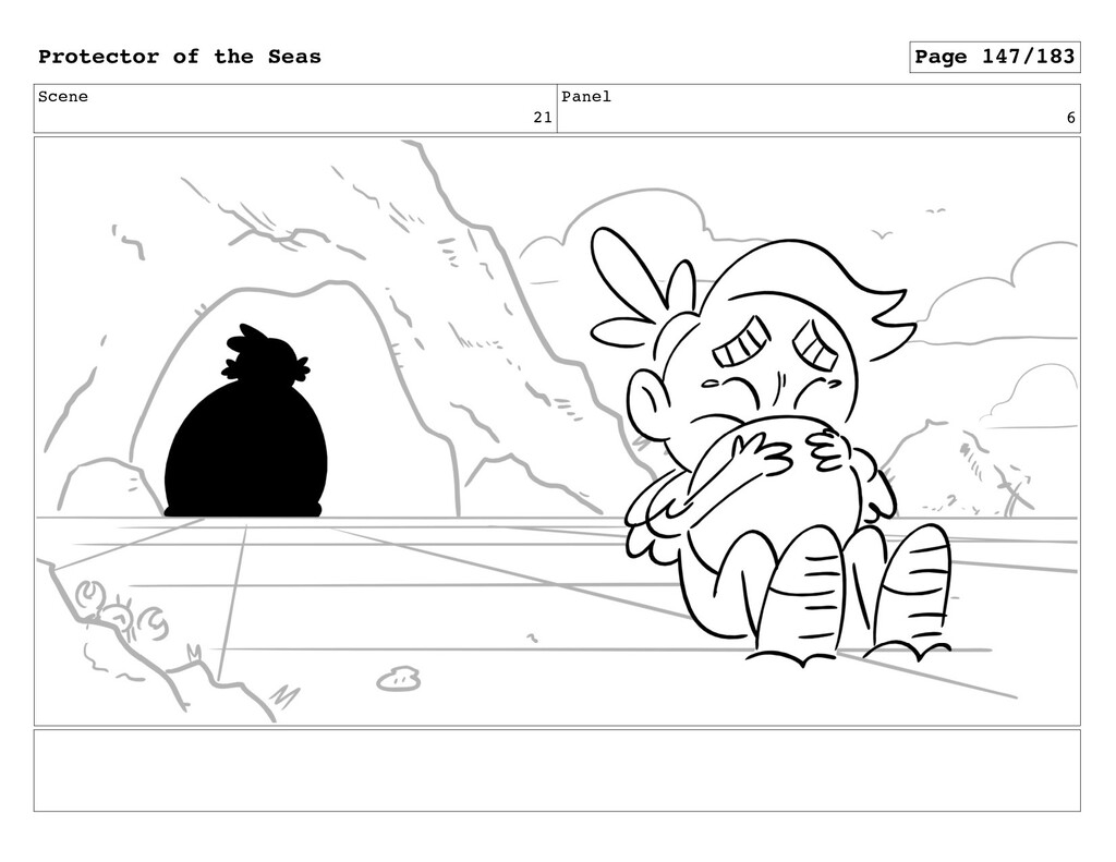 Scene 21 Panel 6 Protector of the Seas Page 147...
