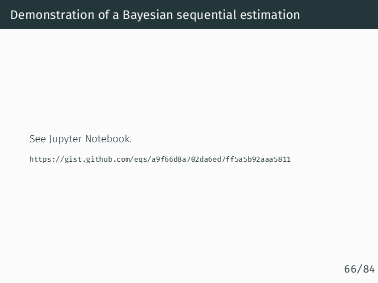 Demonstration of a Bayesian sequential estimati...
