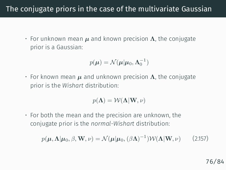 The conjugate priors in the case of the multiva...