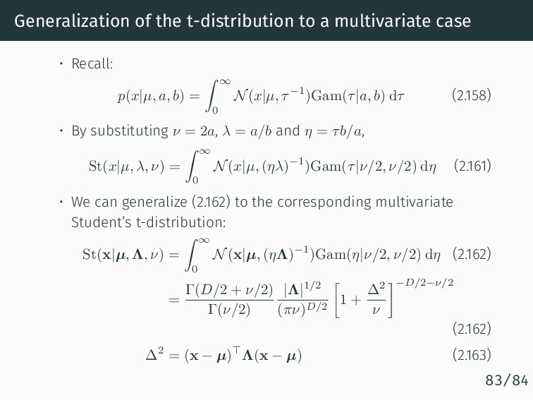 Generalization of the t-distribution to a multi...