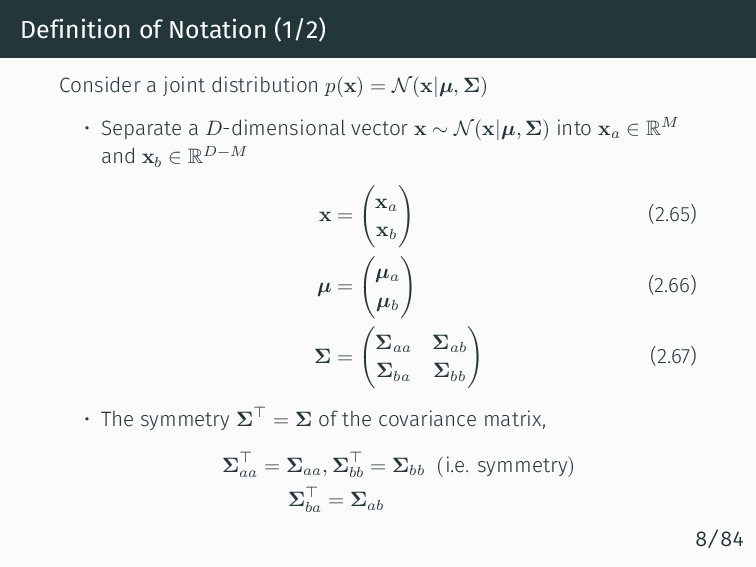 Definition of Notation (1/2) Consider a joint d...