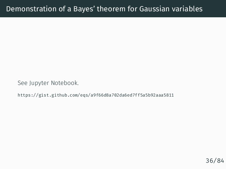 Demonstration of a Bayes' theorem for Gaussian ...