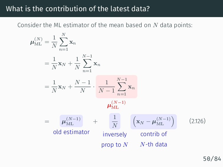 What is the contribution of the latest data? Co...