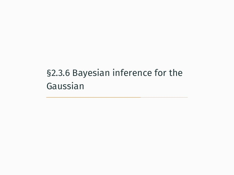 §2.3.6 Bayesian inference for the Gaussian