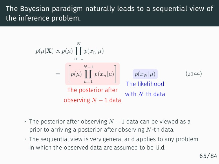 The Bayesian paradigm naturally leads to a sequ...