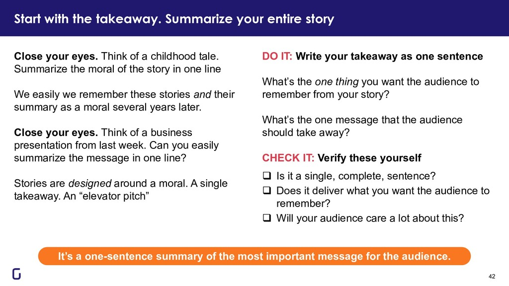 DO IT: Write your takeaway as one sentence What...