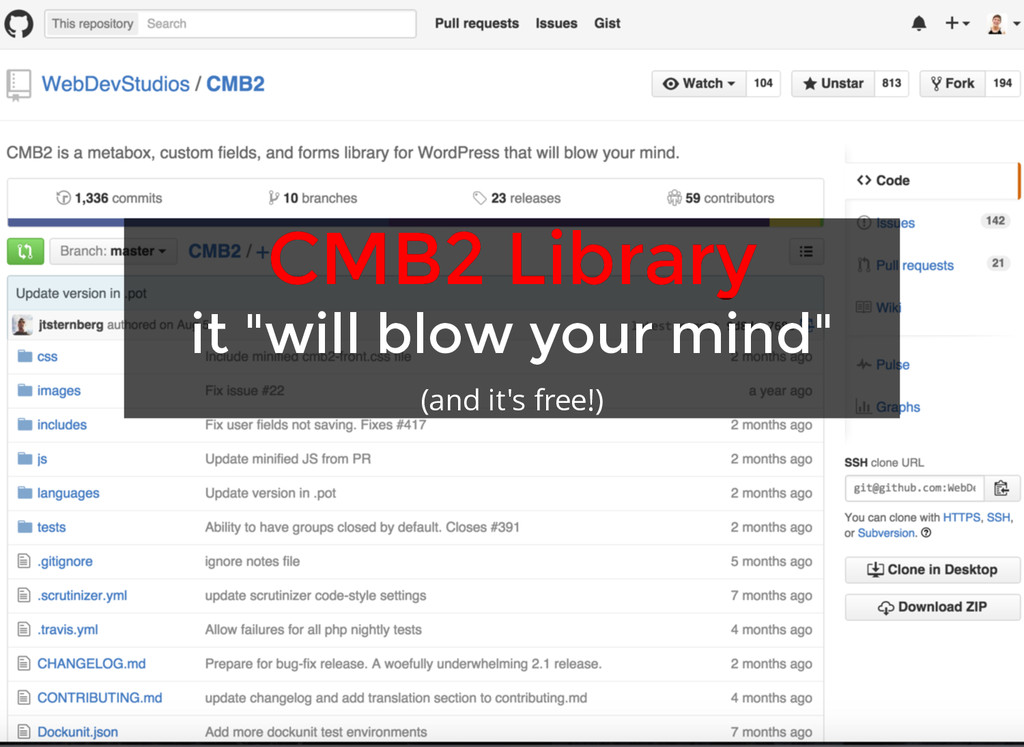 "CMB2 Library CMB2 Library it ""will blow your mi..."