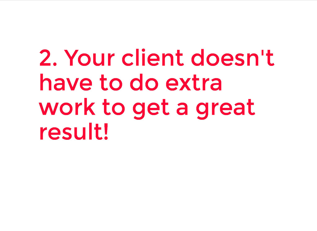 2. Your client doesn't 2. Your client doesn't h...
