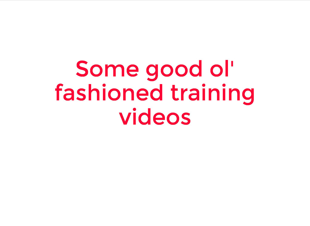 Some good ol' Some good ol' fashioned training ...