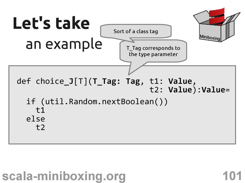 101 scala-miniboxing.org Let's take Let's take ...