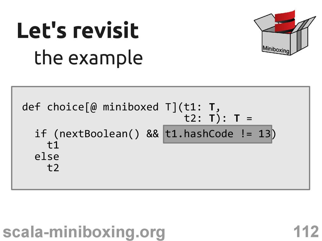 112 scala-miniboxing.org Let's revisit Let's re...