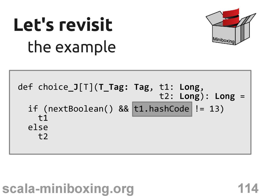 114 scala-miniboxing.org Let's revisit Let's re...