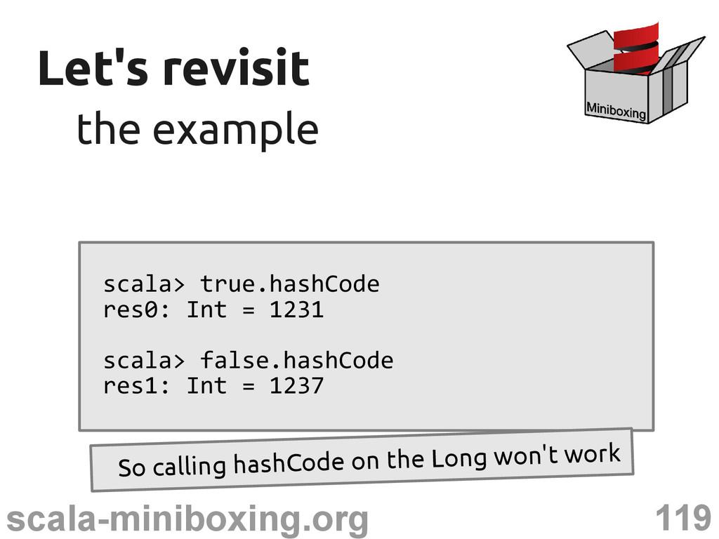 119 scala-miniboxing.org Let's revisit Let's re...
