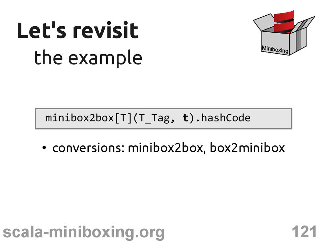 121 scala-miniboxing.org Let's revisit Let's re...