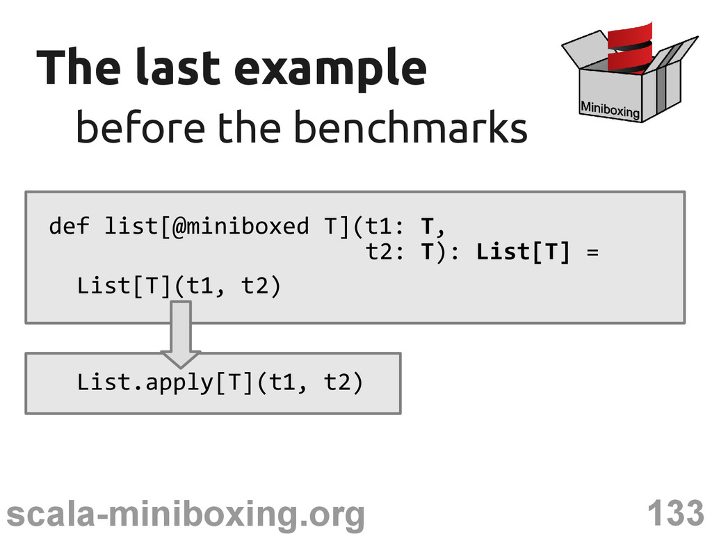 133 scala-miniboxing.org The last example The l...