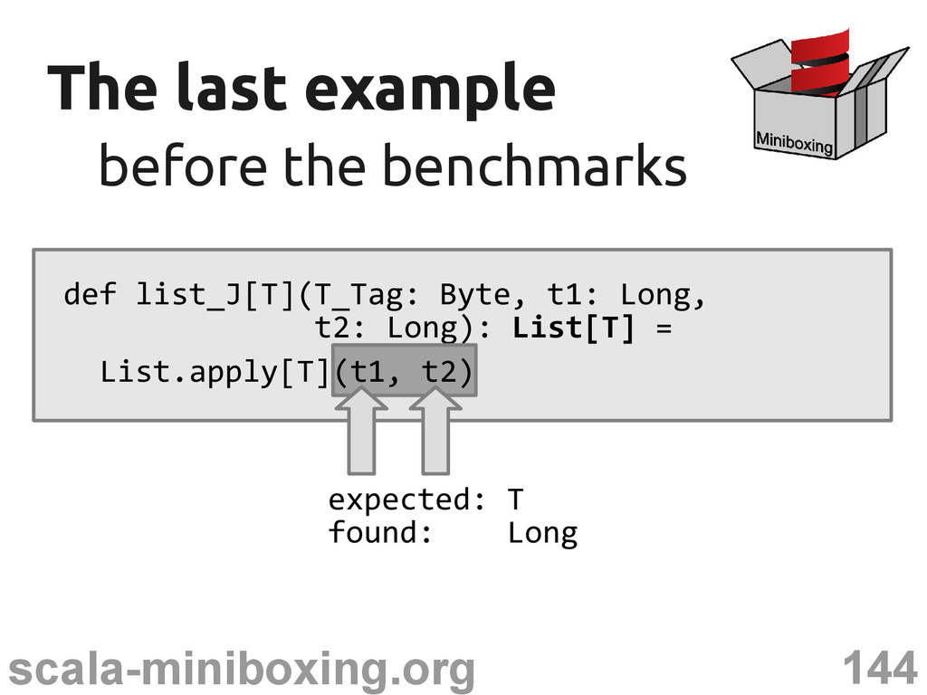 144 scala-miniboxing.org The last example The l...