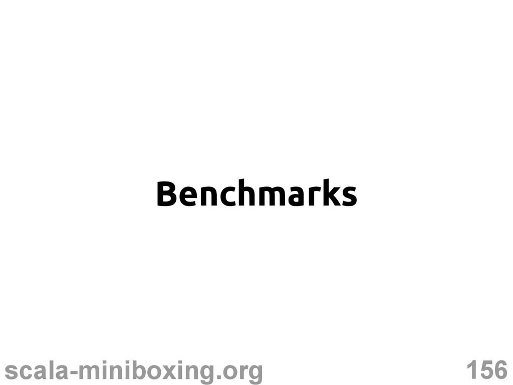 156 scala-miniboxing.org Benchmarks