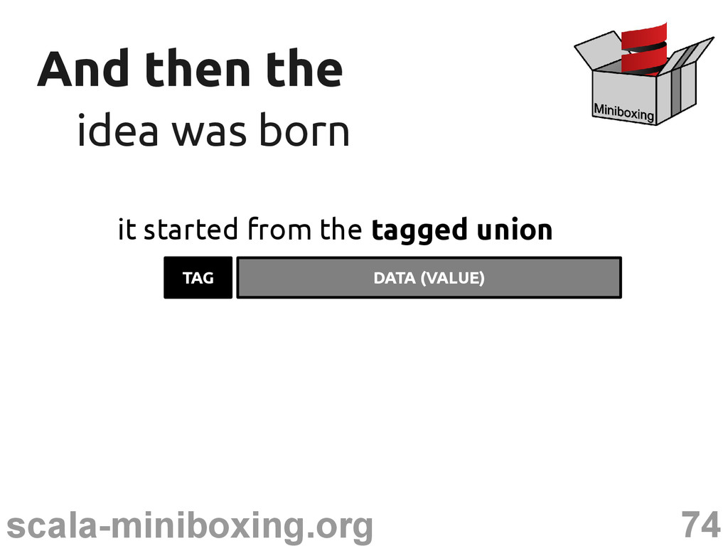 74 scala-miniboxing.org And then the And then t...
