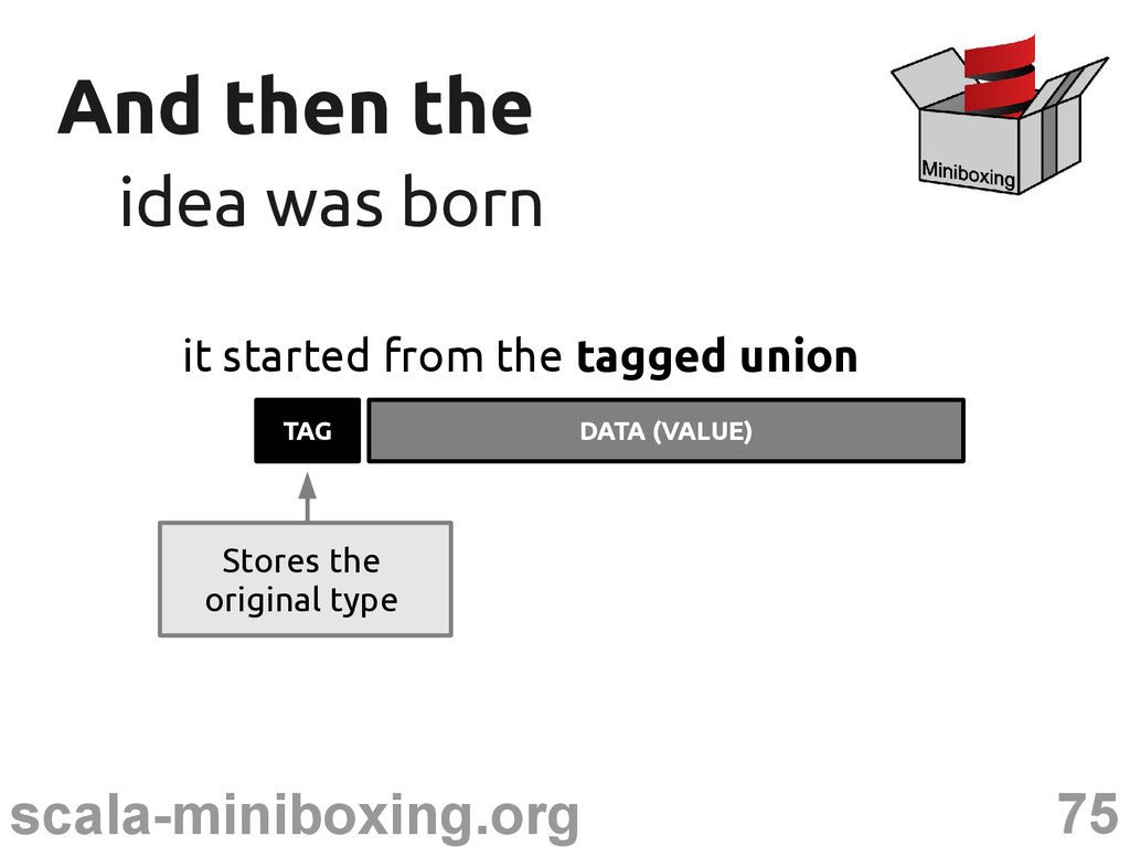 75 scala-miniboxing.org And then the And then t...